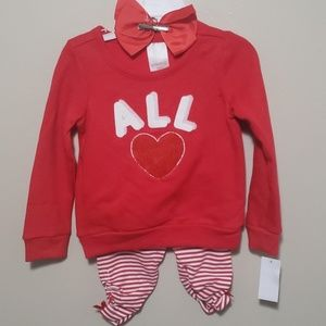 👶CUTE RED AND WHITE OUTFIT WITH BOW👶
